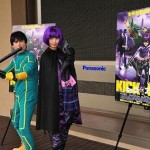 映画『キック・アス』公開直前イベントで加藤夏希×なだぎ武がコスプレで大暴れ!!