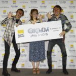 海外ドラマ「GRIMM/グリム シーズン5」独占日本初放送記念PRイベント実施!アンガールズと菊地亜美が特殊メイクで登場!